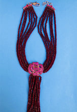 Ruby Pink Zircon Statement  Necklace