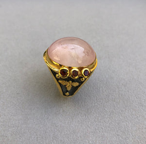 Cats Eye Turmaline Stones Roman Ring