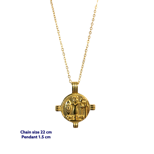 Posh Rosh Gold Coin Necklace