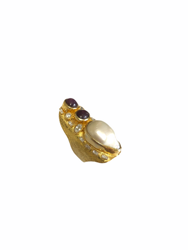 Baroque Pearl,Star Ruby,Roman Ring