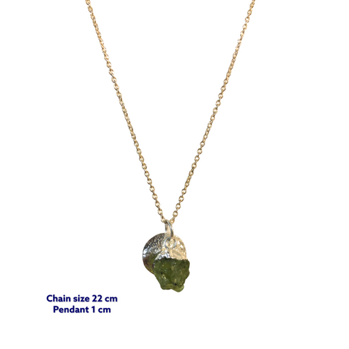 Mini Raw Peridot Necklace