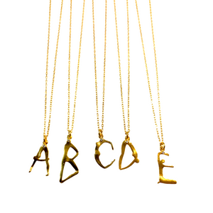 Yoga Letter A Necklace