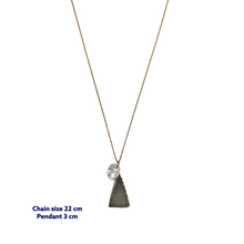 Triangle Moonstone Necklace