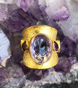 Rose d France Turmalines Roman Ring
