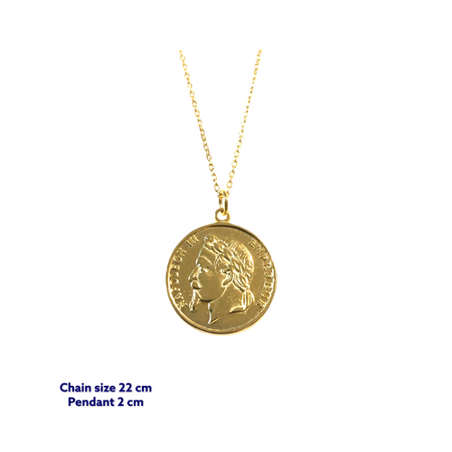 Napoleon III Gold Coin Necklace