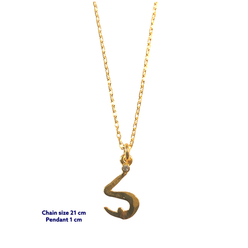 Yoga Letter S Necklace