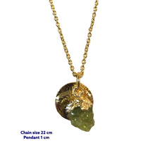 Peridot Mini Gold Necklace