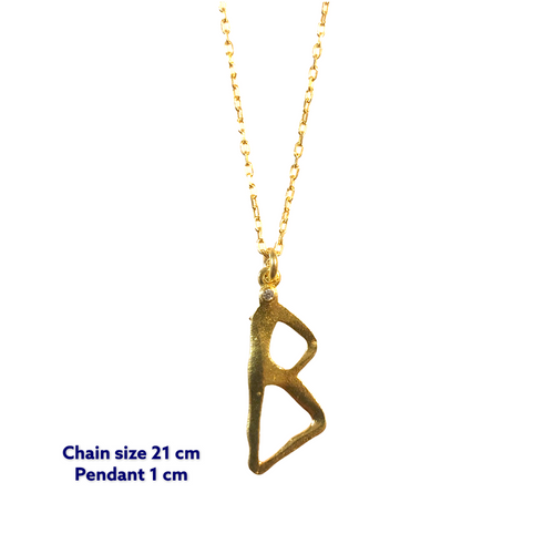Yoga Letter B Necklace