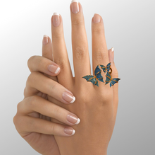 Butterfly Pavel Statement Rings