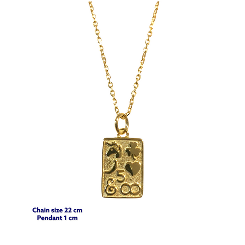 Relli Square Gold Coin Necklace