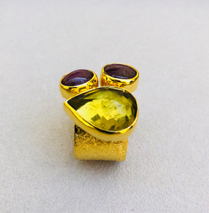 Zultanite Turmaline Roman Ring