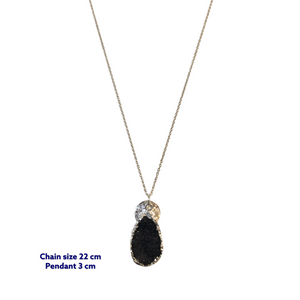 Druzy Tear Drop Stone Necklace