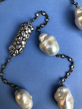 Baroque Pearl Diomond Cut White Zircon Necklace
