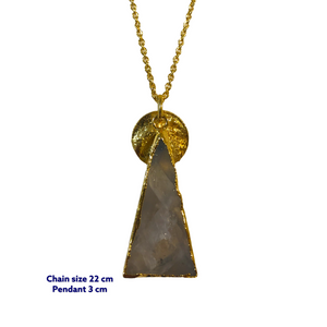 Triangle Moonstone Gold Necklace