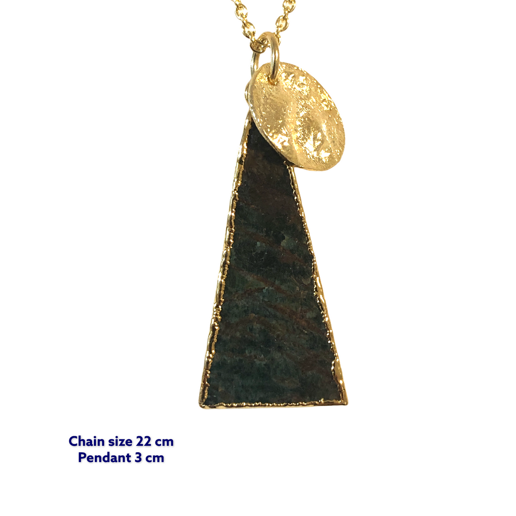 Triangle Druzy Gold Necklace
