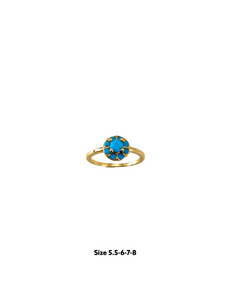 Turquoise Ring,gold cz ring,gold ring,stacking ring,minimalist gold ring,dainty jewellery,gold dainty ring