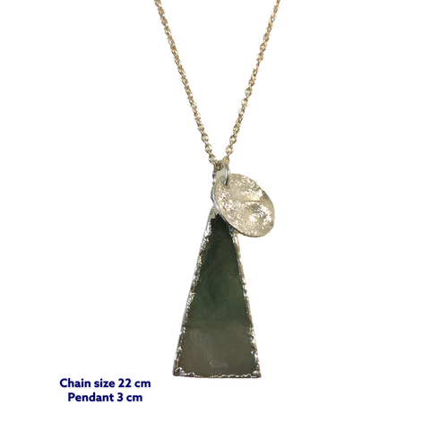 Triangle Raw Jade Stone Necklace