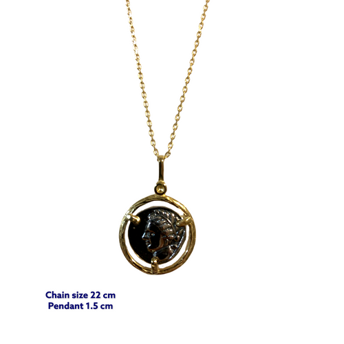 Brave Gold Coin Necklace