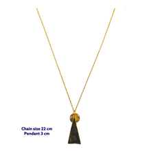 Triangle Labrodorite Gold Necklace