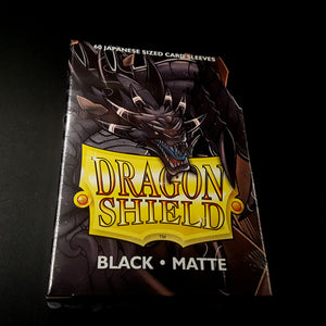Dragon Shield Sleeves - Black (Japanese-Sized)