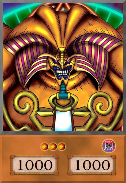 Exodia the Forbidden One Anime Card