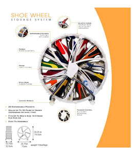 Rakku Shoe Wheel Shoe Storage System