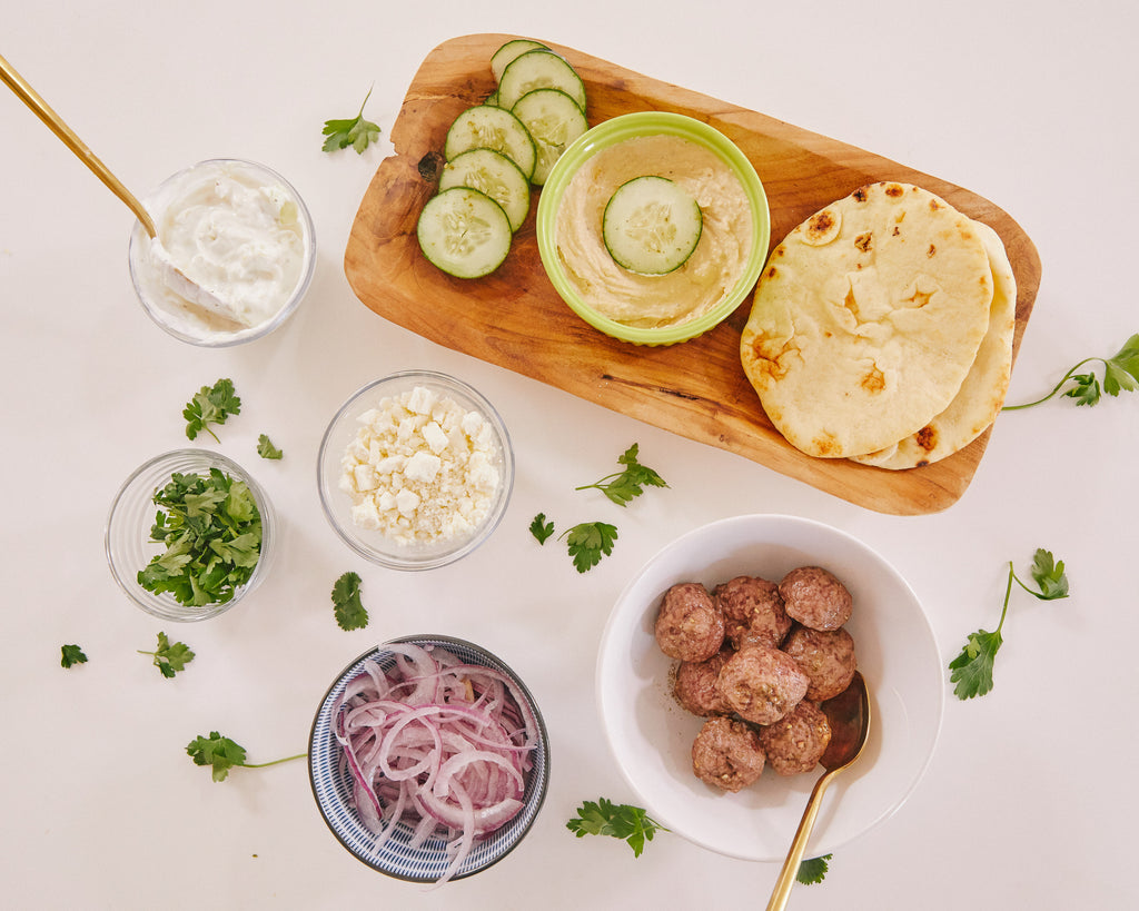 Greek-Style Lamb Meatballs with Za'atar + Tzatziki Sauce
