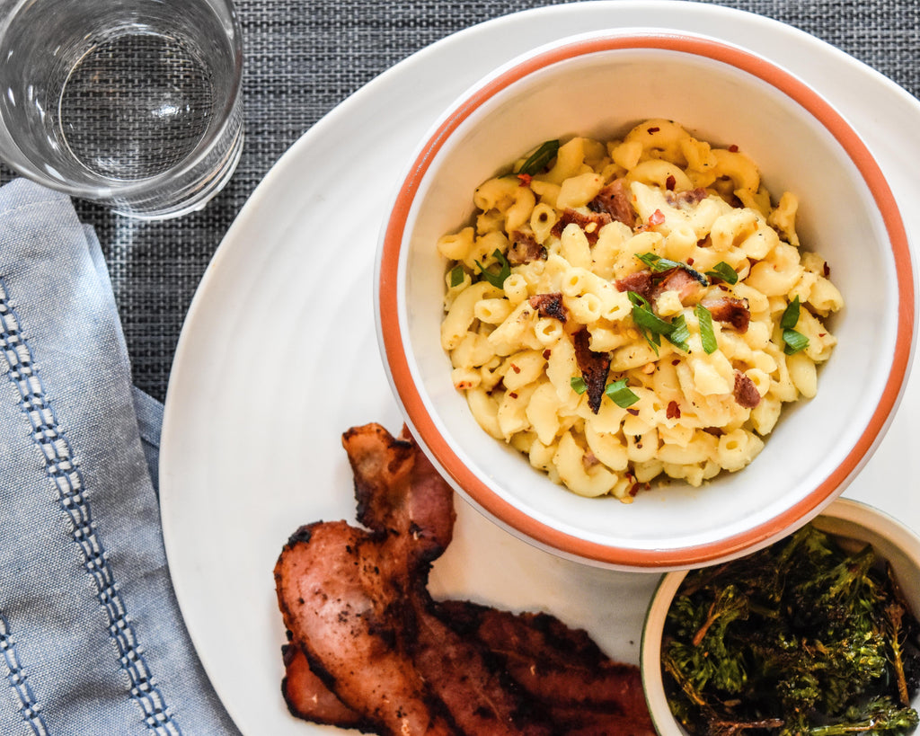 One-Pot Mac and Cheese with Bacon