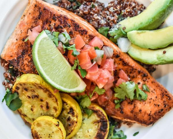 Quinoa and Salmon with Pico