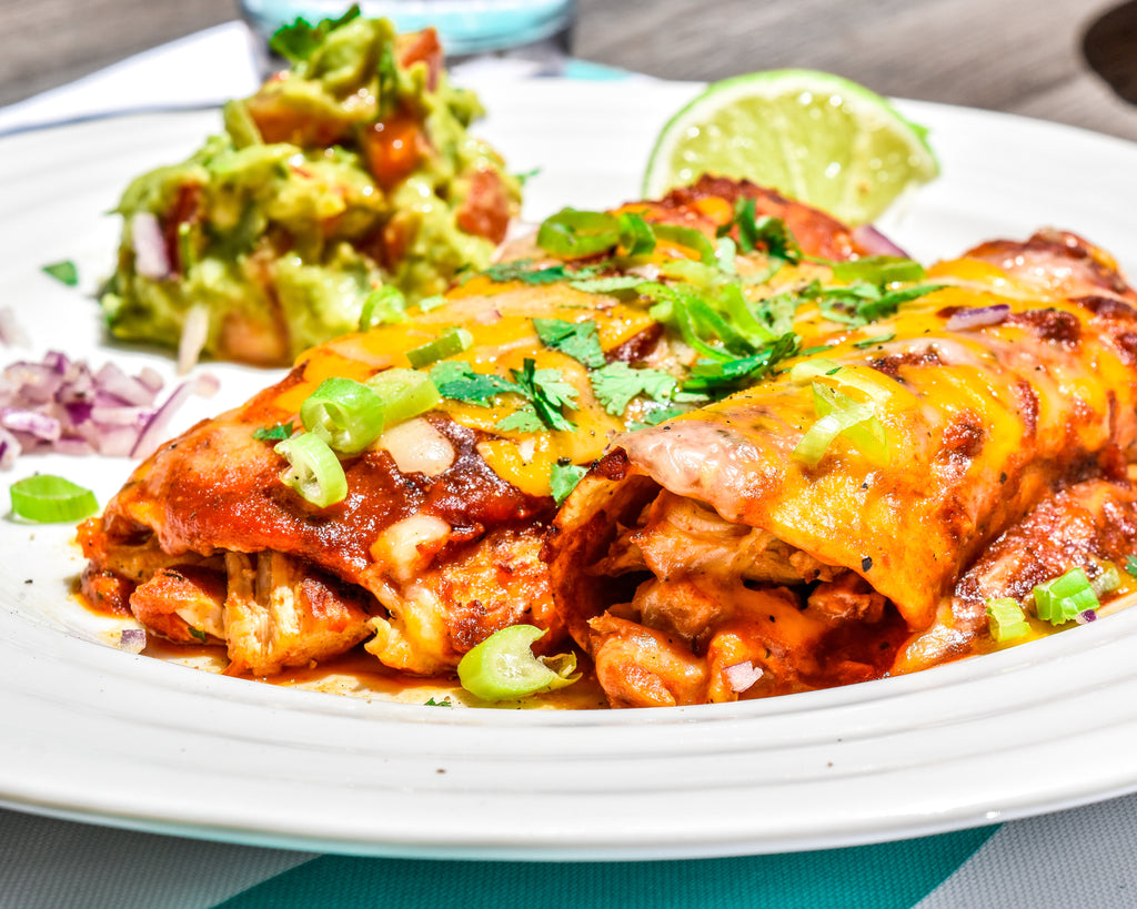 Smoky Chicken Enchiladas