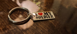 I ❤ my soldier Key Chain