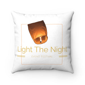 Faux Suede Light The Night Square Pillow