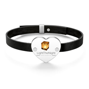 Leather Heart LTN Water Lantern Bracelet