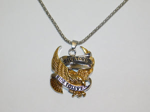 Live To Ride Motorcycle Necklace