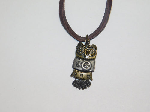 Steampunk Owl Necklace