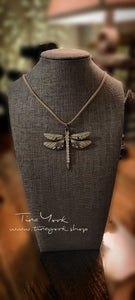 Diamond Spring Dragonfly Necklace
