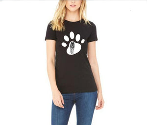 Wolf In Paw Print T