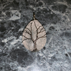 Tree of Life Wire Wrap White Crystal