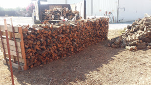 3/4 cord firewood stacked