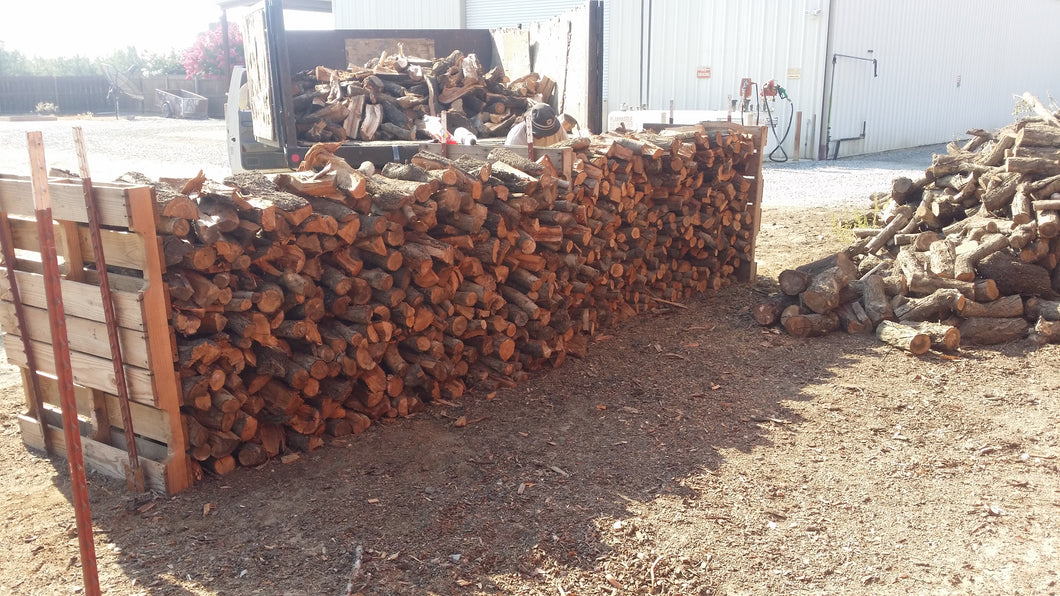 Full cord firewood stacked