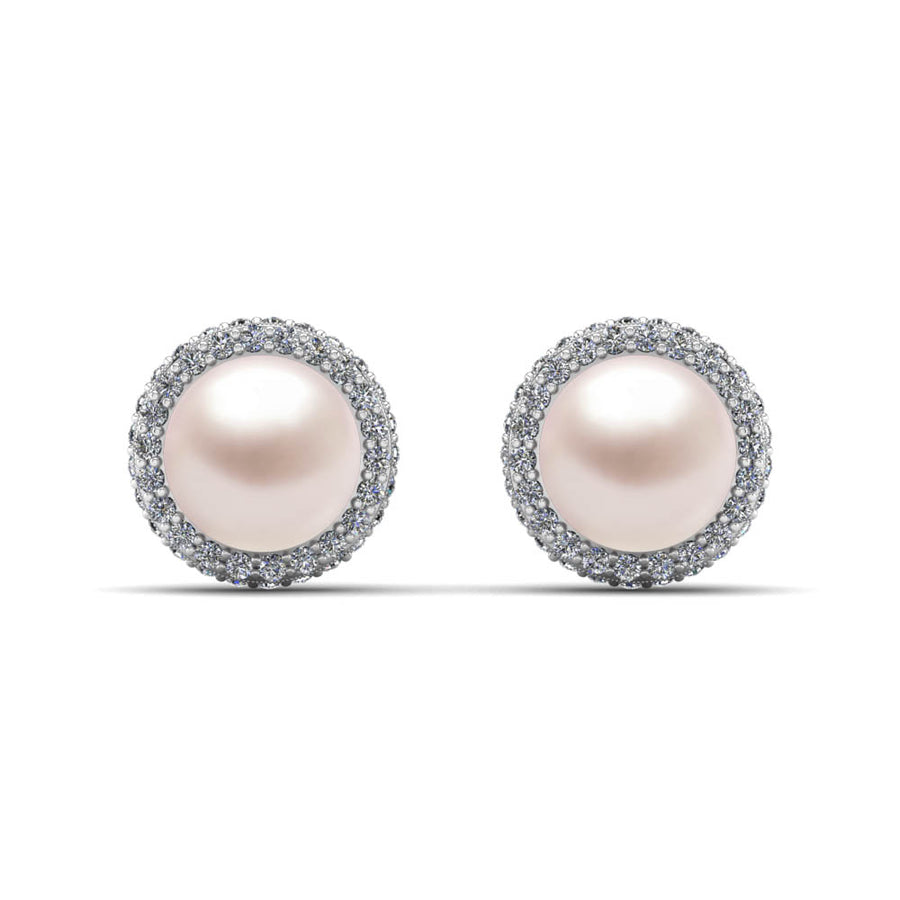 Echo Halo Pearl Earrings