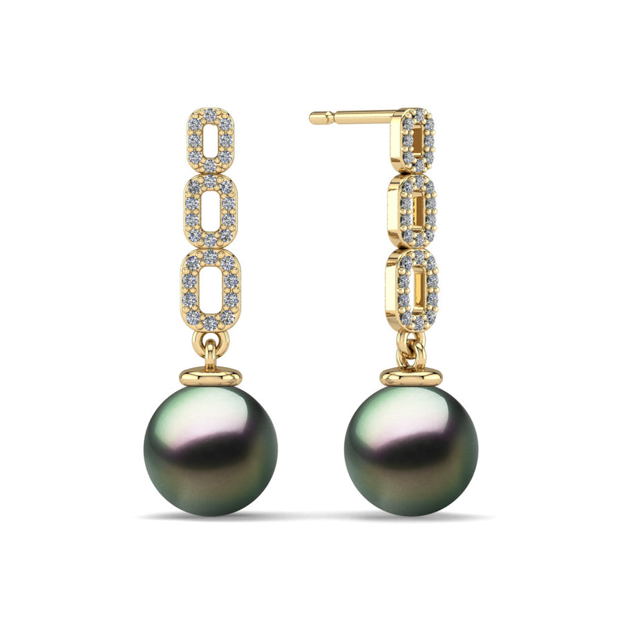 Link and Pearl Drop Earrings