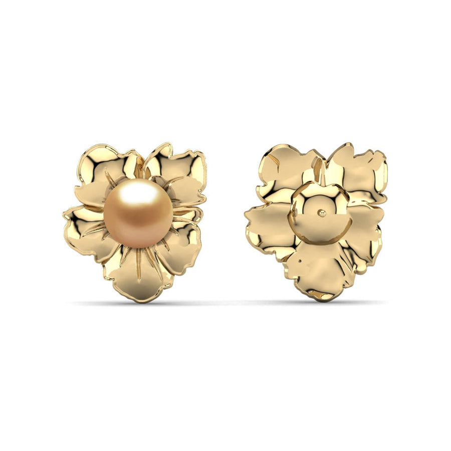 Golden Blossom Earrings