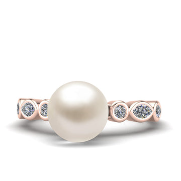 Fire and Ice Pearl Ring - Pinterest - -18K Rose Gold-Akoya-White Akoya