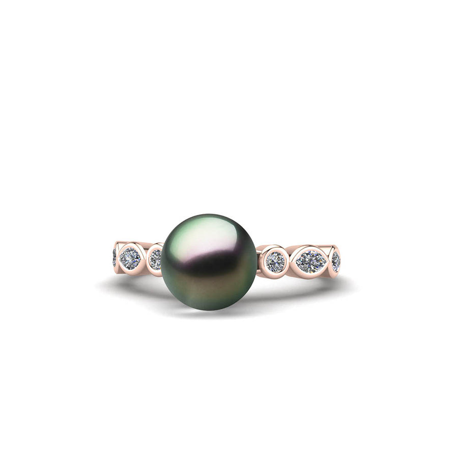 Fire and Ice Pearl Ring