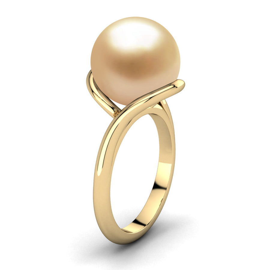 Sculptural Swirl Ring-18K Yellow Gold-South Sea Golden-Golden