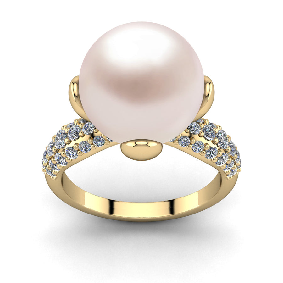 Petal Pearl Ring-18K Yellow Gold-South Sea-South Sea Rose