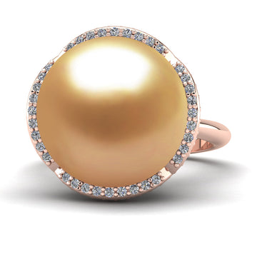 Arches Pearl Ring - Pinterest - -18K Rose Gold-South Sea Golden-Deep Golden