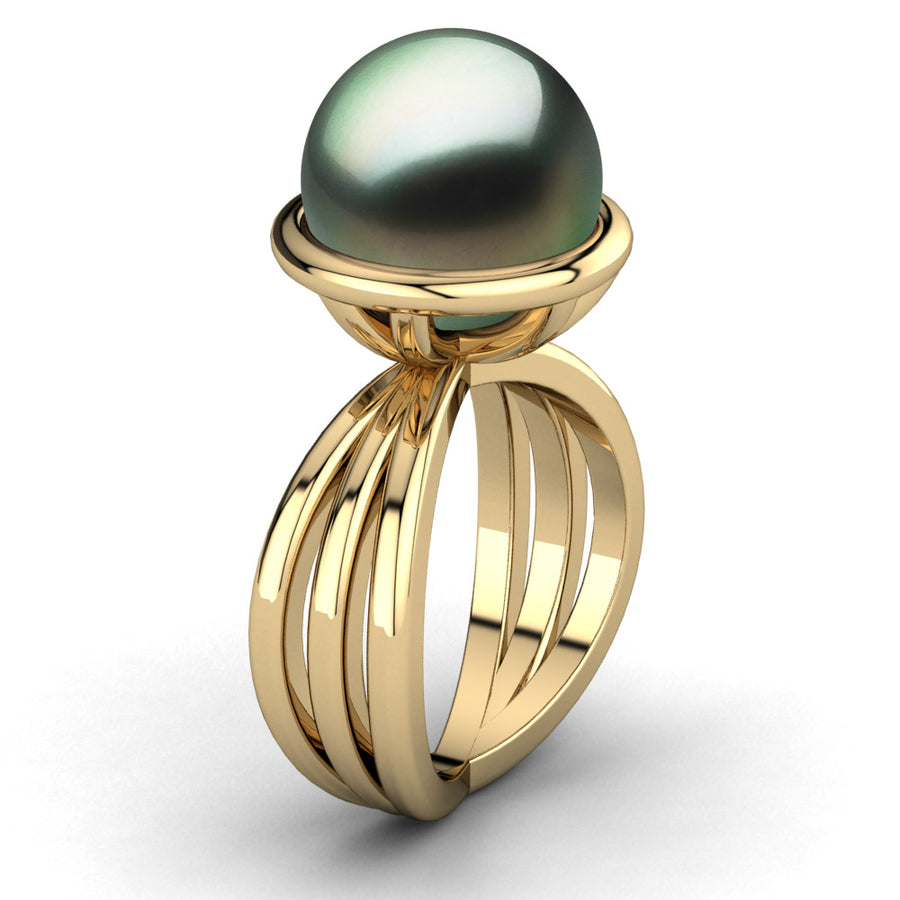 Go for the Gold Pearl Ring