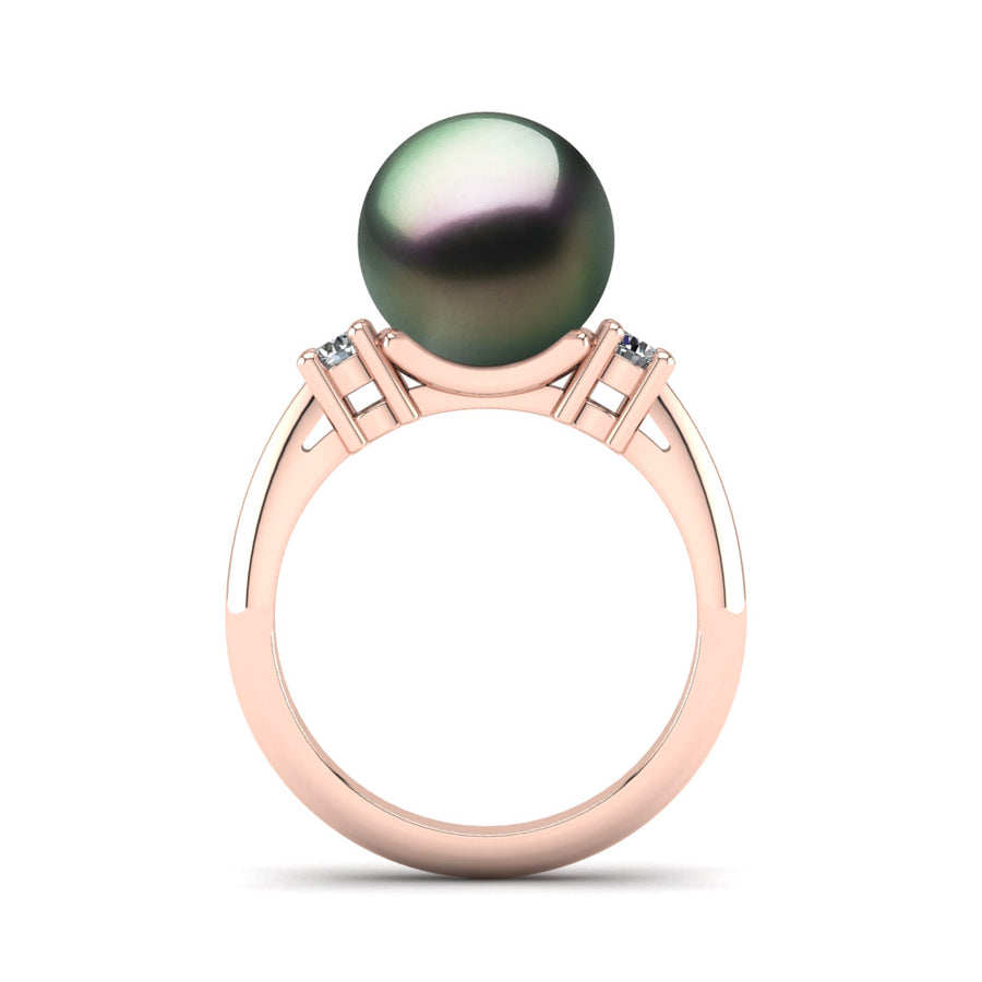 Generations Pearl Ring-18K Rose Gold-Tahitian-Peacock